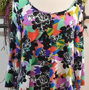 Cable and Gauge new print tunic top colorful